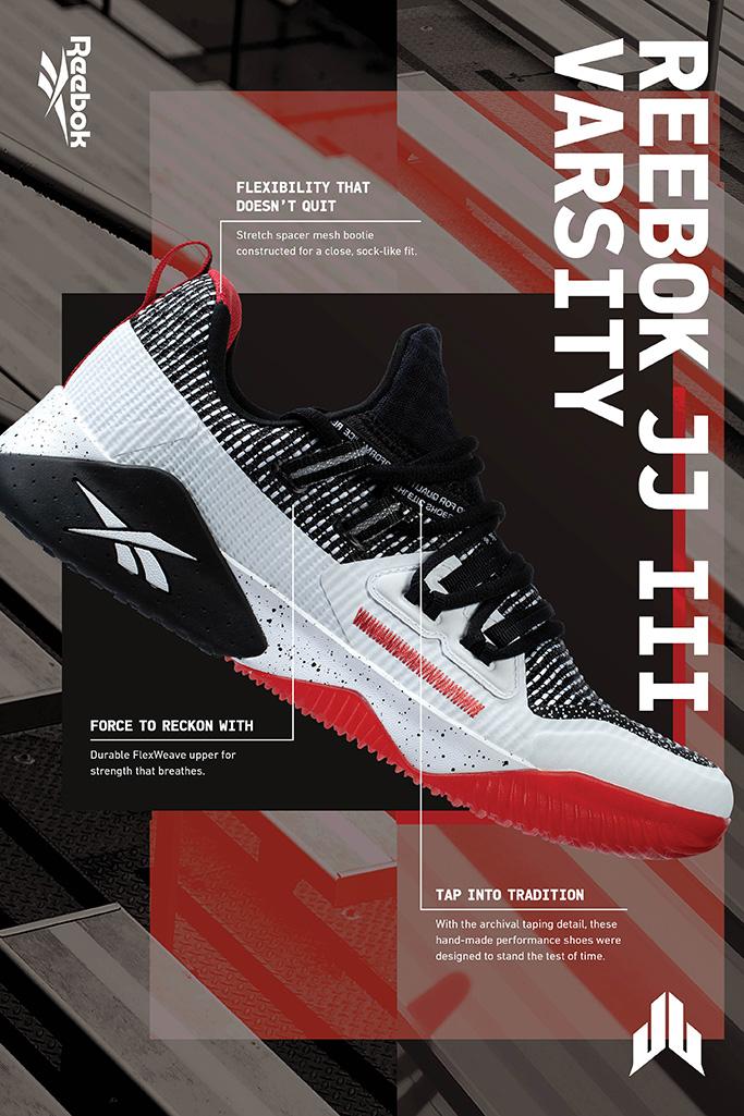 jj watt shoes, Reebok, JJ III Varsity sneakers