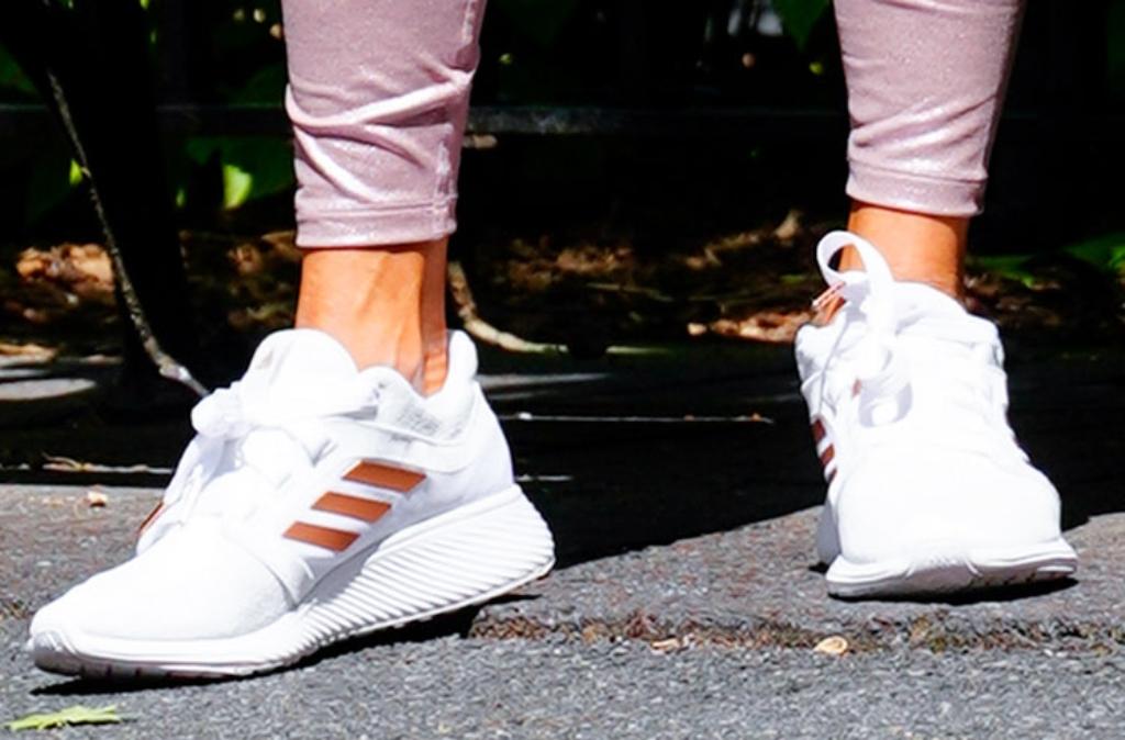 jennifer lopez, adidas sneakers