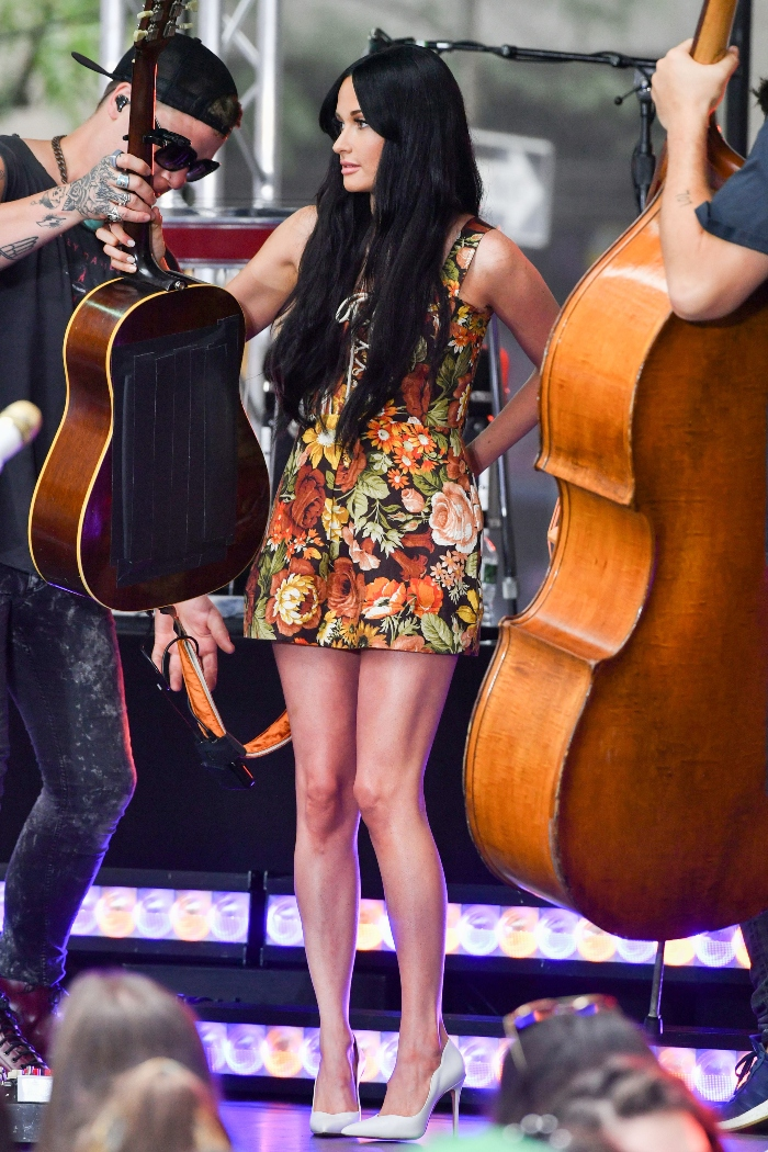 Kacey Musgraves, today show, today, concert series, floral dress, white shoes