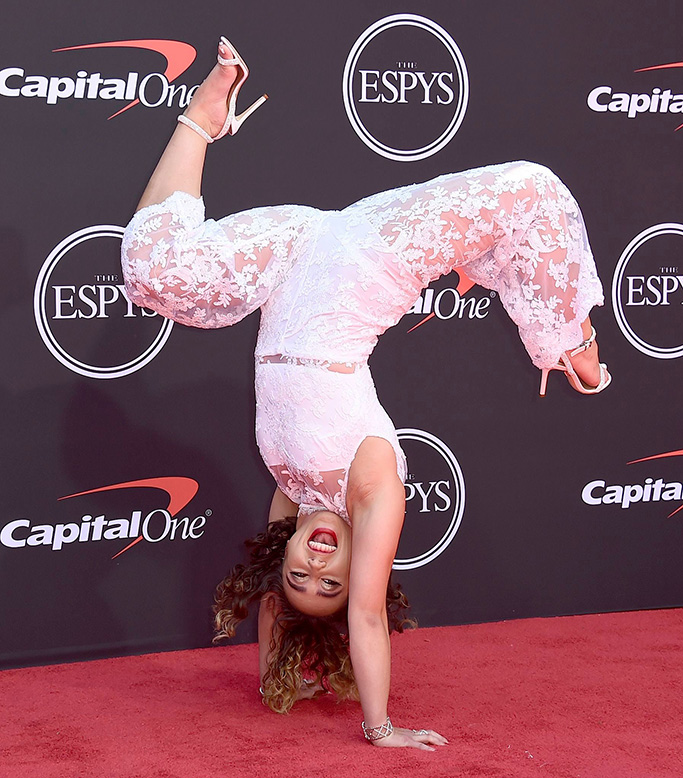 Gymnast Katelyn Ohashi arrives at the ESPY Awards, at the Microsoft Theater in Los Angeles2019 ESPY Awards - Arrivals, Los Angeles, USA - 10 Jul 2019