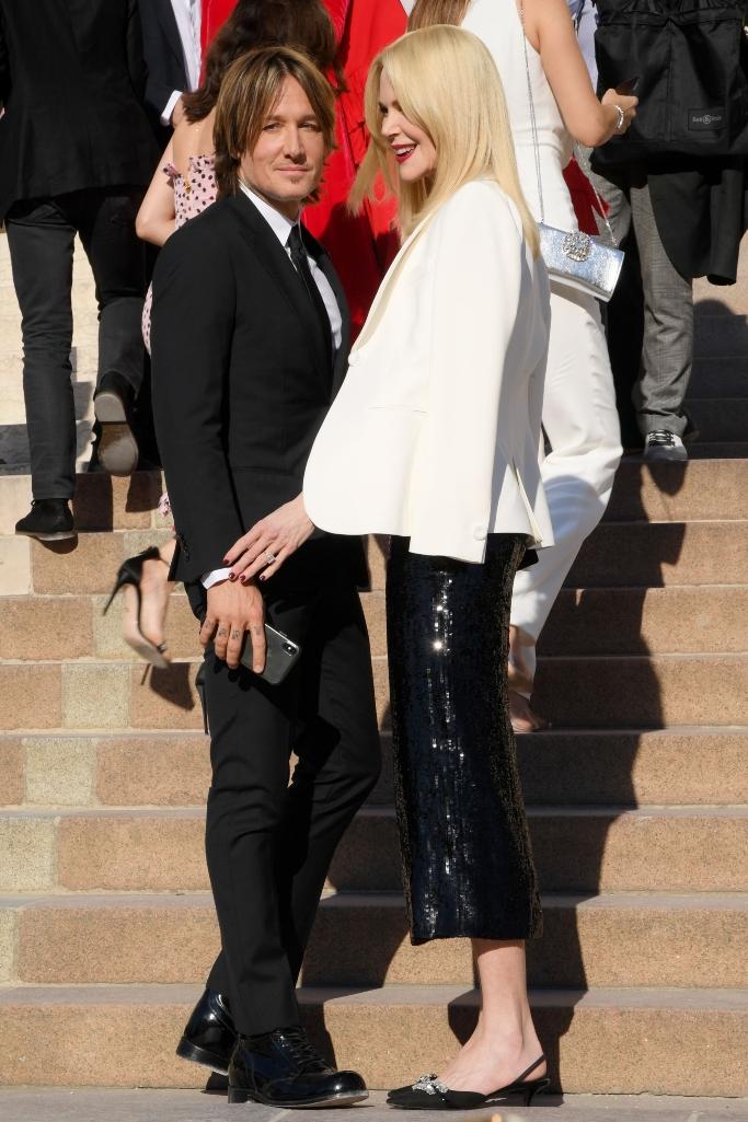 Giorgio Armani Prive haute couture show fall 2019, front row, nicole kidman and keith urban, Giorgio Armani Prive show