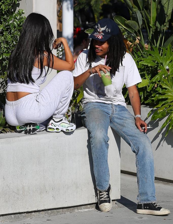 Kourtney Kardashian, Nike Air Max Tailwind IV Sneakers, luka sabbat, rick owens high top leather sneakers,