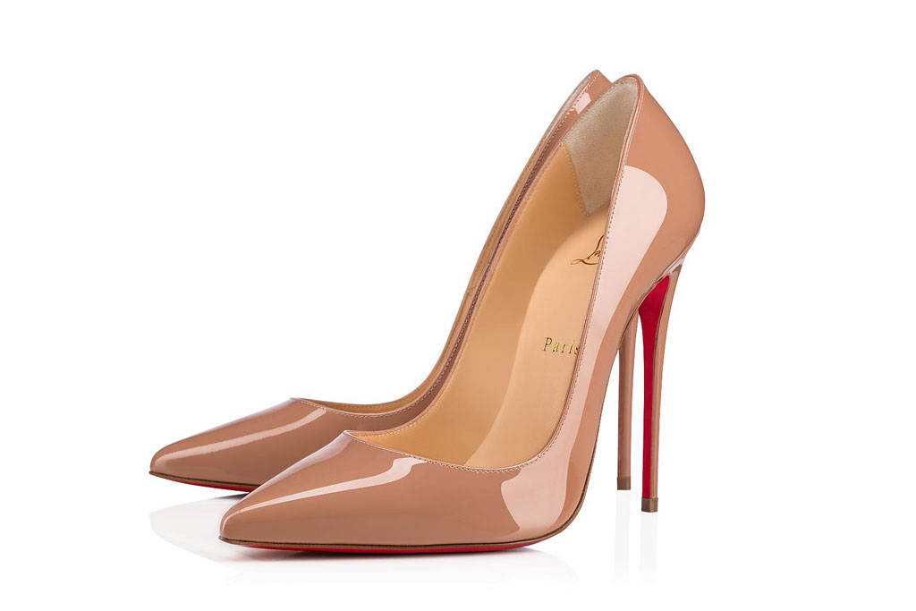 Christian Louboutin, so Kate, nude patent leather