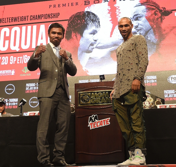 Manny Pacquiao, Keith Thurman, PBC on Fox Sports Pay-Per-View final press conference