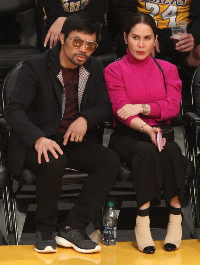 Manny Pacquiao, Jinkee Pacquiao, L.A. Lakers game