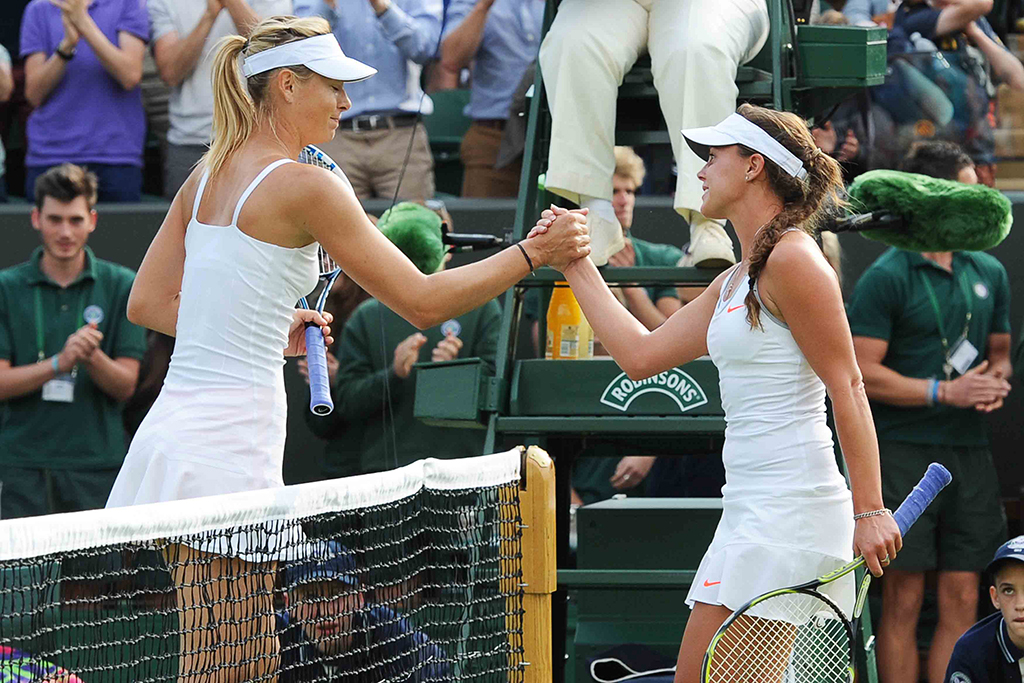 Maria Sharapova Michelle Larcher De Brito Wimbledon 2013
