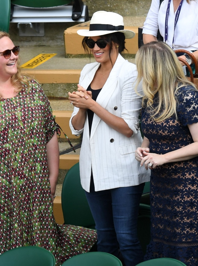 meghan markle with friends at wimbledon