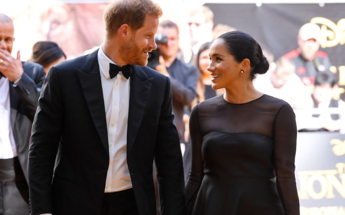 meghan markle and prince harry, the lion king london premiere