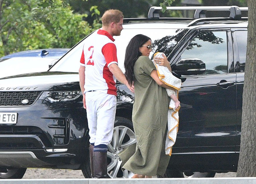 Prince Harry with Meghan Duchess of Sussex and Archie Harrison Mountbatten-WindsorKing Power Royal Charity Polo Day, Billingbear Polo Club, Wokingham, UK - 10 Jul 2019