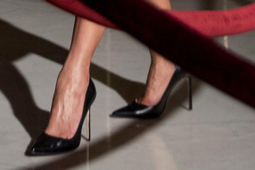 Melania Trump, celebrity style, Manolo blahnik bb pumps, July 2019, justice John Paul Steven's funeral, flotus
