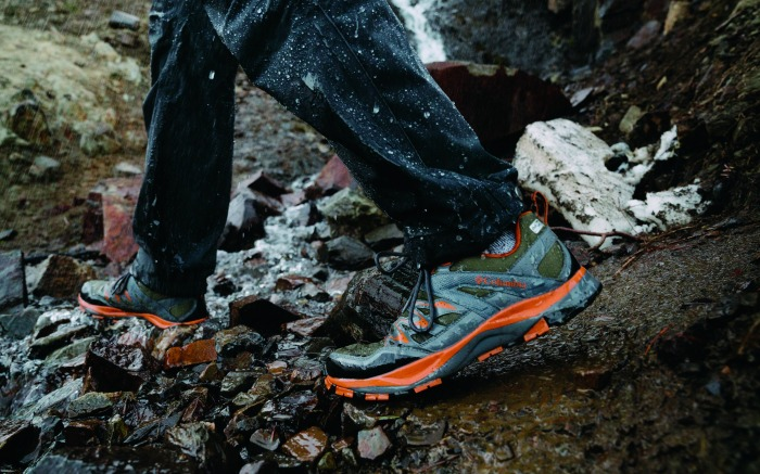 The Columbia Wayfinder hiking boots.