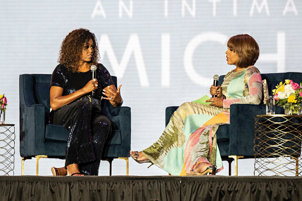michelle obama, gayle king, essence festival, celebrity style.