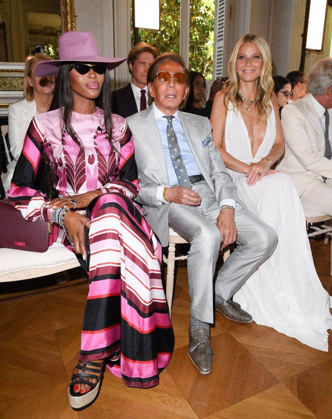 Naomi Campbell, Valentino and Gwyneth Paltrow in the front row, haute couture fashion week