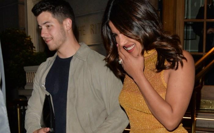 Nick Jonas and Priyanka Chopra, new balance, gold sandals