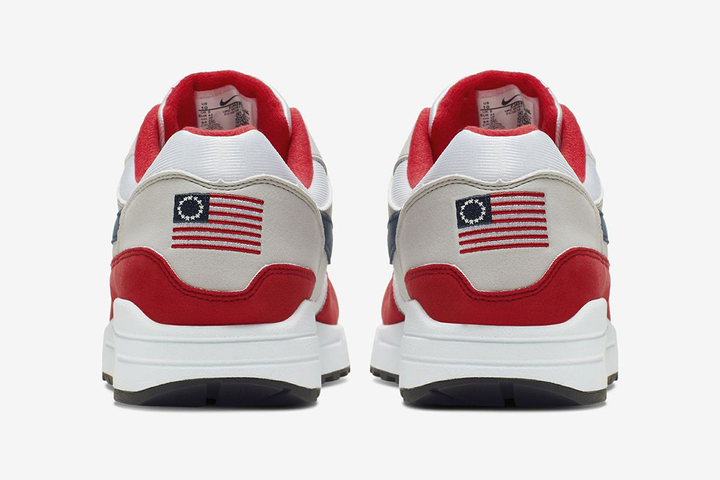 Nike Air Max 1 USA, betsy ross flag shoes, american flag