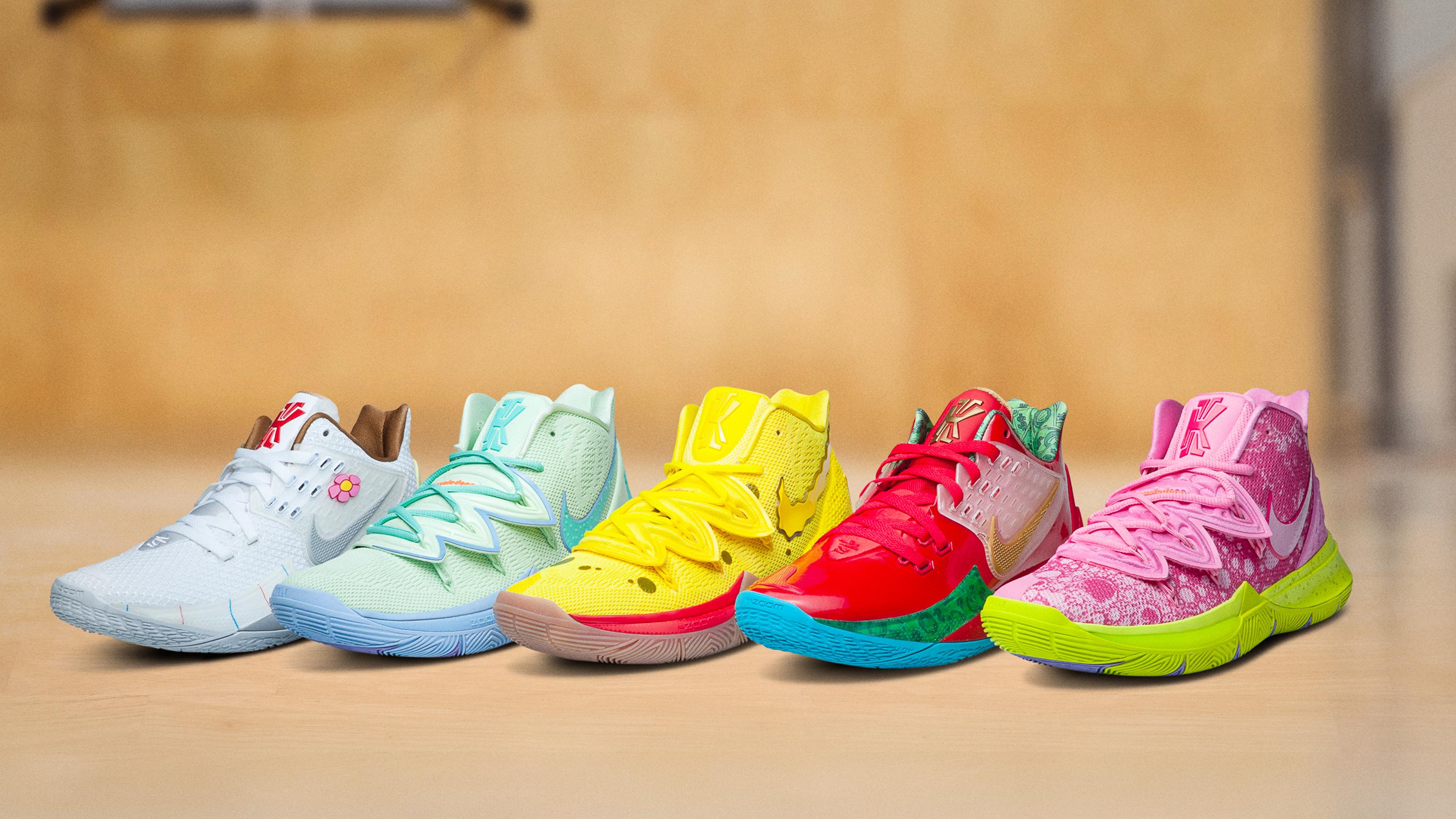 Kyrie x SpongeBob SquarePants Nike Pack