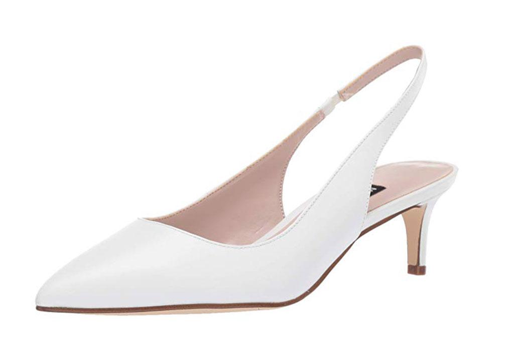 nine west white kitten heels