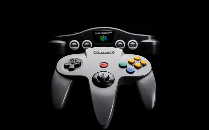 Editorial Use onlyMandatory Credit: Photo by James Sheppard/Future/Shutterstock (10139252bb)A Nintendo 64 Video Game Console And Controller (Nus2018 Apple MacBook Air Product Shoot - 19 Nov 2018