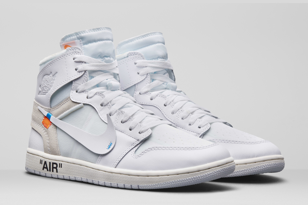 "Off-White x Nike Air Jordan 1 ""White."""