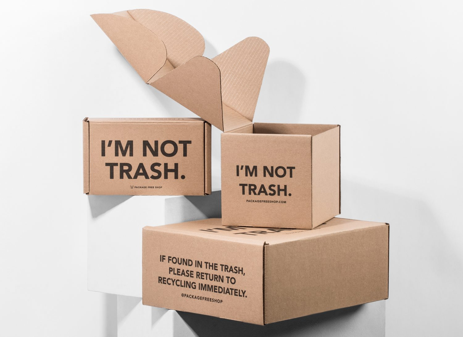 Sustainable packaging from Lumi - Im Not Trash