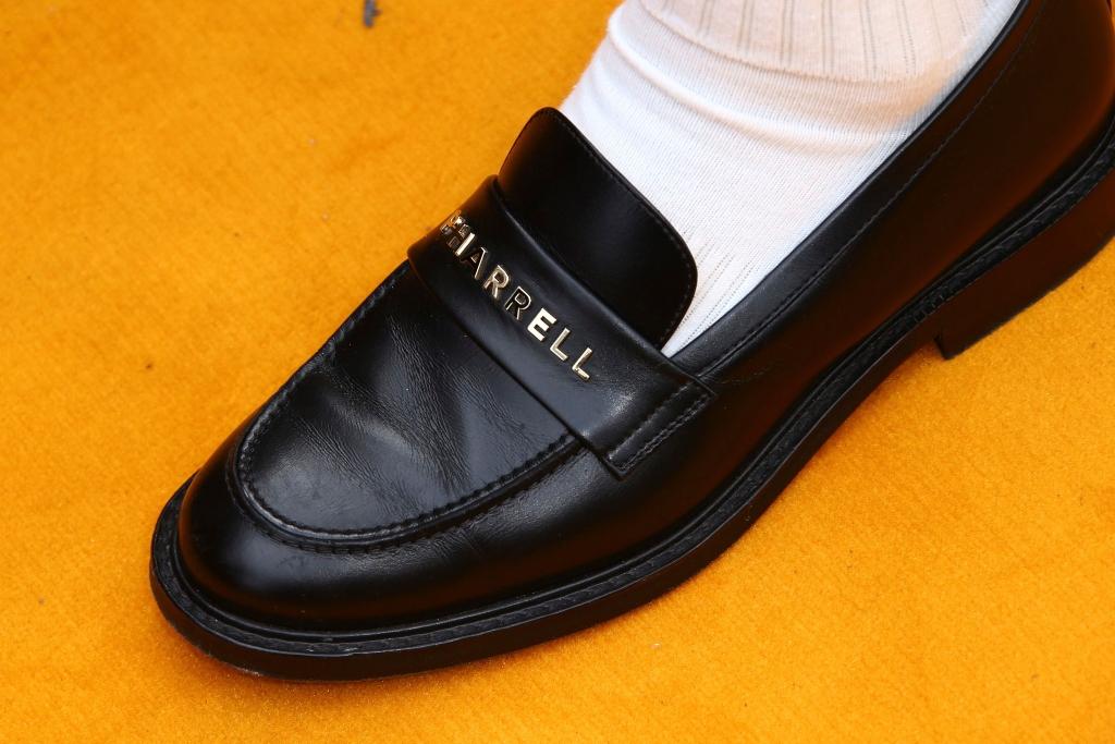 pharrell williams, custom loafers, the lion king london premiere