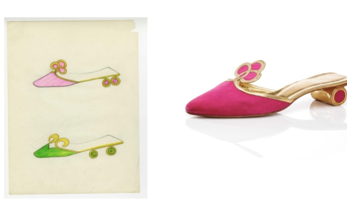 Pink-mule-with-round-heel-1964