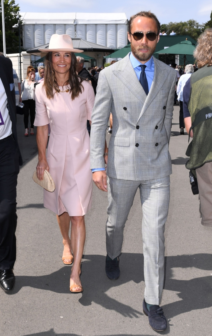 pippa middleton, james middleton, stella mccartney, 2019 wimbledon tennis championships