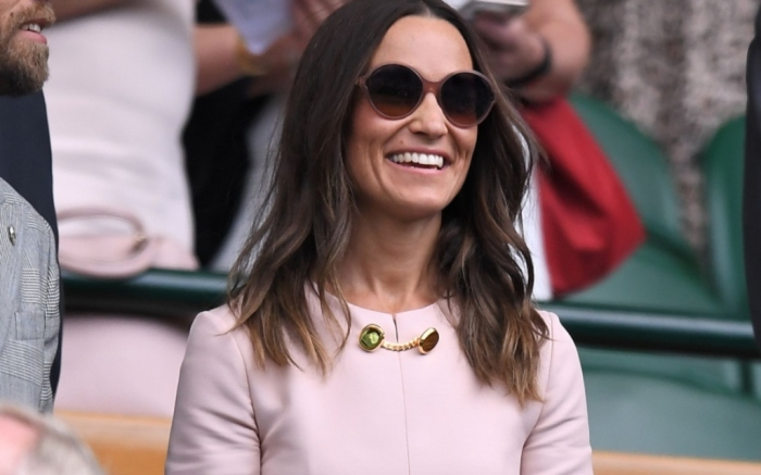 Pippa Middleton on Centre Court at wimbledon