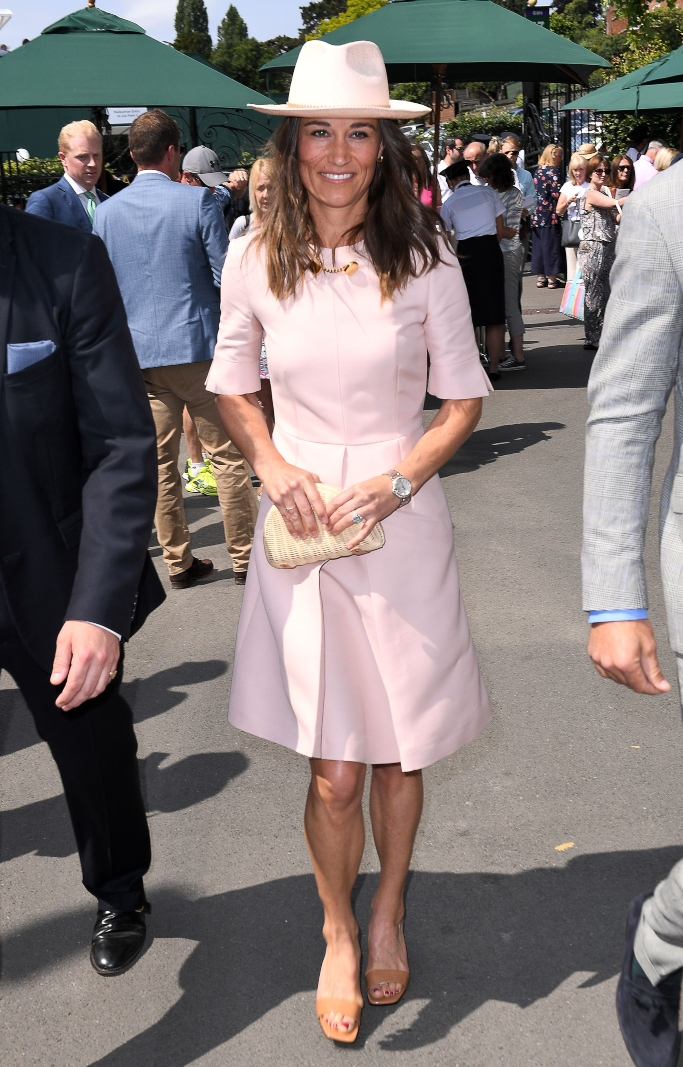 wimbledon, pippa middleton, stella mccartney Albane Dress, stella mccartney faux leather mules