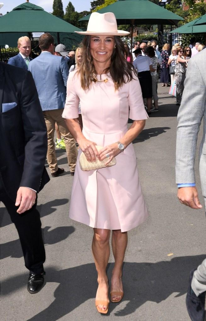 wimbledon, pippa middleton, stella mccartney Albane Dress, stella mccartney faux leather mules