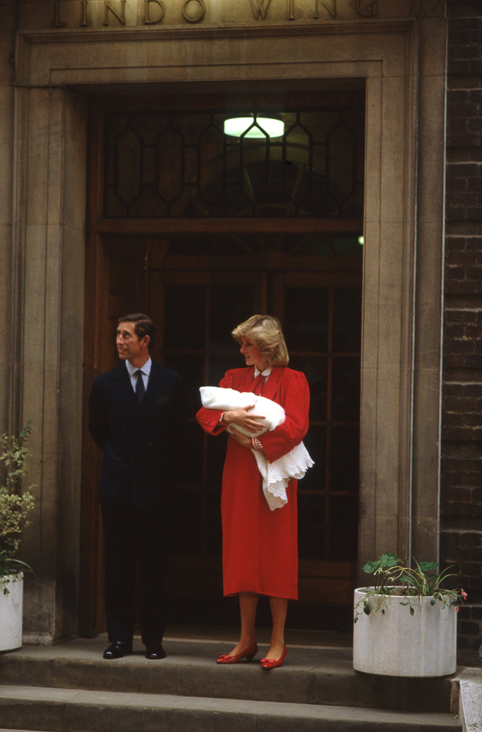 Prince Charles and Princess Diana with newly born Prince HarryBirth of Prince Harry, Lindo Wing, St Mary's Hospital, London, UK - Sep 1984