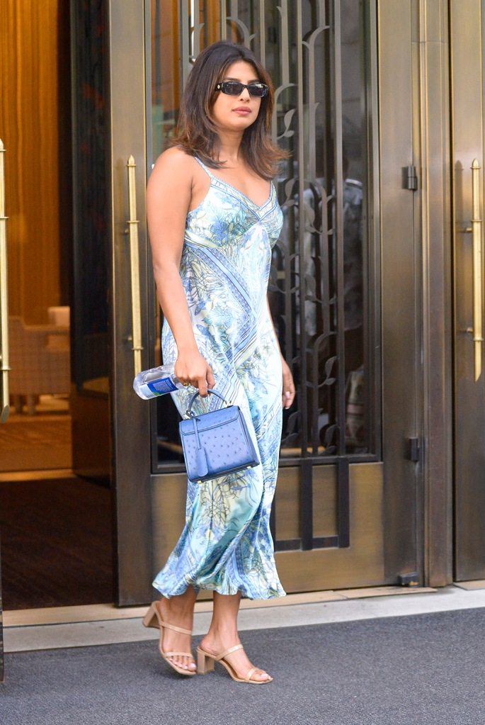 Priyanka Chopra, Hale Bob silk dress, le specs sunglasses, by far sandals, Salvatore farragamo mini bag, heads out in a silk dress in New York City today.Pictured: Priyanka ChopraRef: SPL5105770 240719 NON-EXCLUSIVEPicture by: SplashNews.comSplash News and PicturesLos Angeles: 310-821-2666New York: 212-619-2666London: 0207 644 7656Milan: 02 4399 8577photodesk@splashnews.comWorld RightsPriyanka Chopra wears a lingerie midi dress, blue leather handbag and platform sandals while heading out in of her apartment in Tribeca New York CityPictured: Priyanka ChopraRef: SPL5105700 240719 NON-EXCLUSIVEPicture by: Edward Opi / SplashNews.comSplash News and PicturesLos Angeles: 310-821-2666New York: 212-619-2666London: 0207 644 7656Milan: 02 4399 8577photodesk@splashnews.comWorld Rights