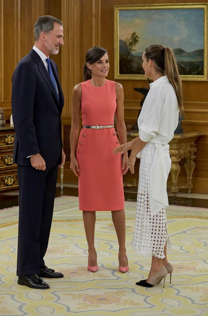 King Felipe VI, Queen Letizia and Ona CarbonellSpanish Royals receive Spanish synchronized swimmer Ona Carbonell, Madrid, Spain - 23 Jul 2019