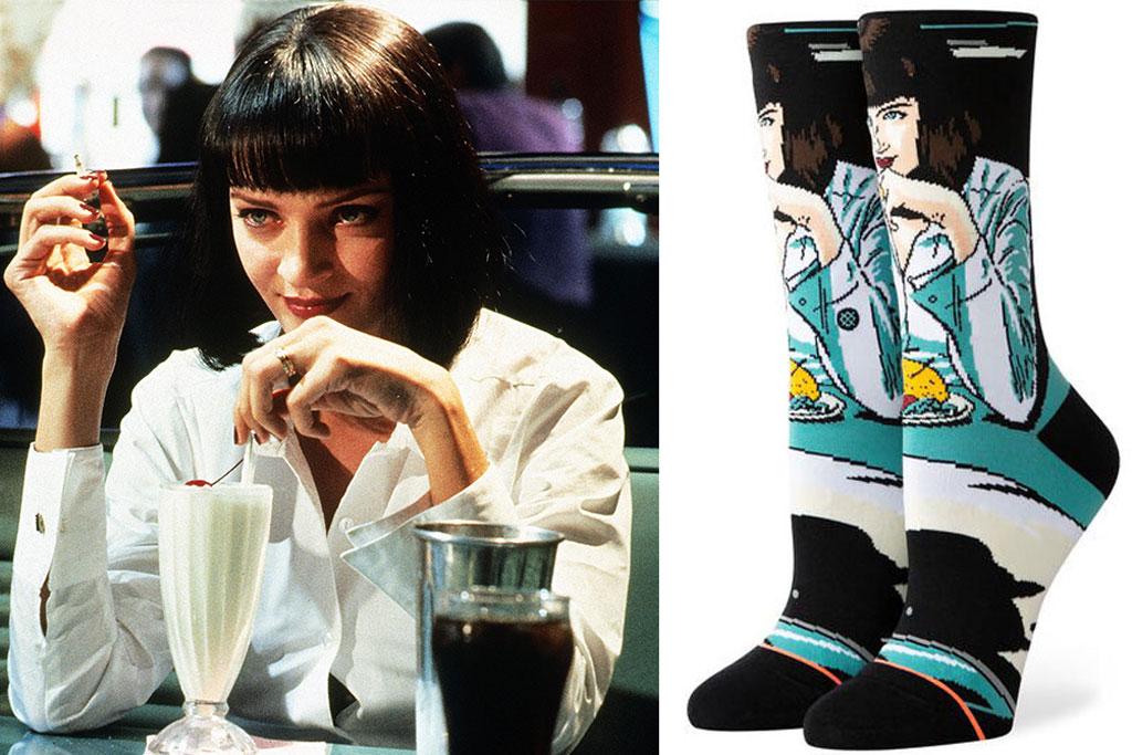 Quentin Tarantino, uma Thurman, pulp fiction, quentin tarantino, stance socks
