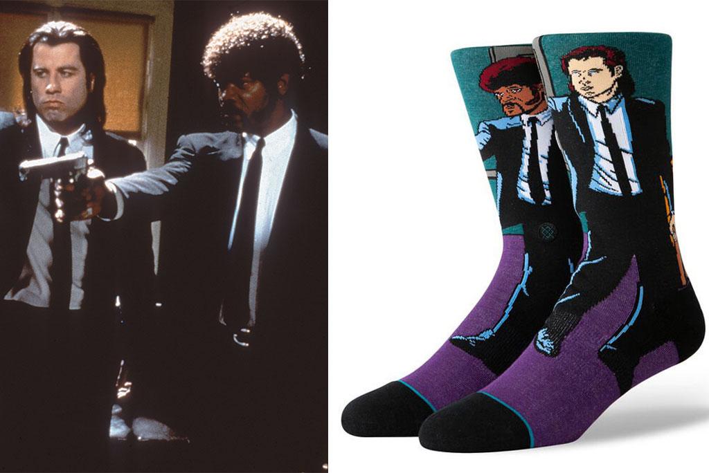 Quentin Tarantino, Samuel l Jackson, pulp fiction, quentin tarantino, stance socks, John travolta