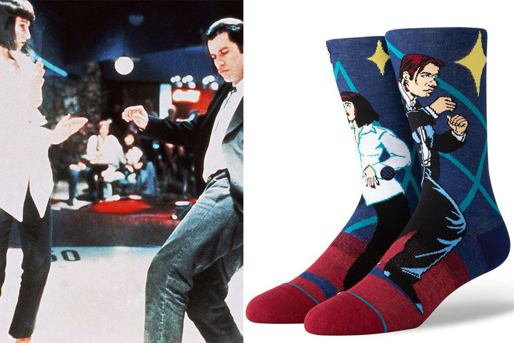 Quentin Tarantino, uma Thurman, pulp fiction, quentin tarantino, stance socks, John travolta