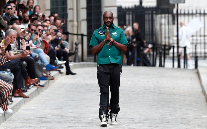 Ghanaian-American designer Virgil Abloh gestures after the presentation of his Spring/Summer 2020 Men's collection for Louis Vuitton during the Paris Fashion Week, in Paris, France, 20 June 2019. The presentation of the Spring/Summer 2020 menswear collections runs from 18 to 23 June 2019.Louis Vuitton - Runway - Paris Men's Fashion Week S/S 2020, France - 20 Jun 2019