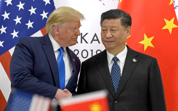 Donald Trump, Xi Jinping. President Donald Trump, left, shakes hands with Chinese President Xi Jinping during a meeting on the sidelines of the G-20 summit in Osaka, JapanTrump G20 US China, Osaka, Japan - 29 Jun 2019