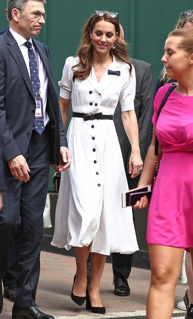 Catherine Duchess of CambridgeWimbledon Tennis Championships, Day 2, The All England Lawn Tennis and Croquet Club, London, UK - 02 Jul 2019Shoes By Gianvito Rossi, Bag By Alexander McQueen, Belt By Alexander McQueen Wearing Suzannah