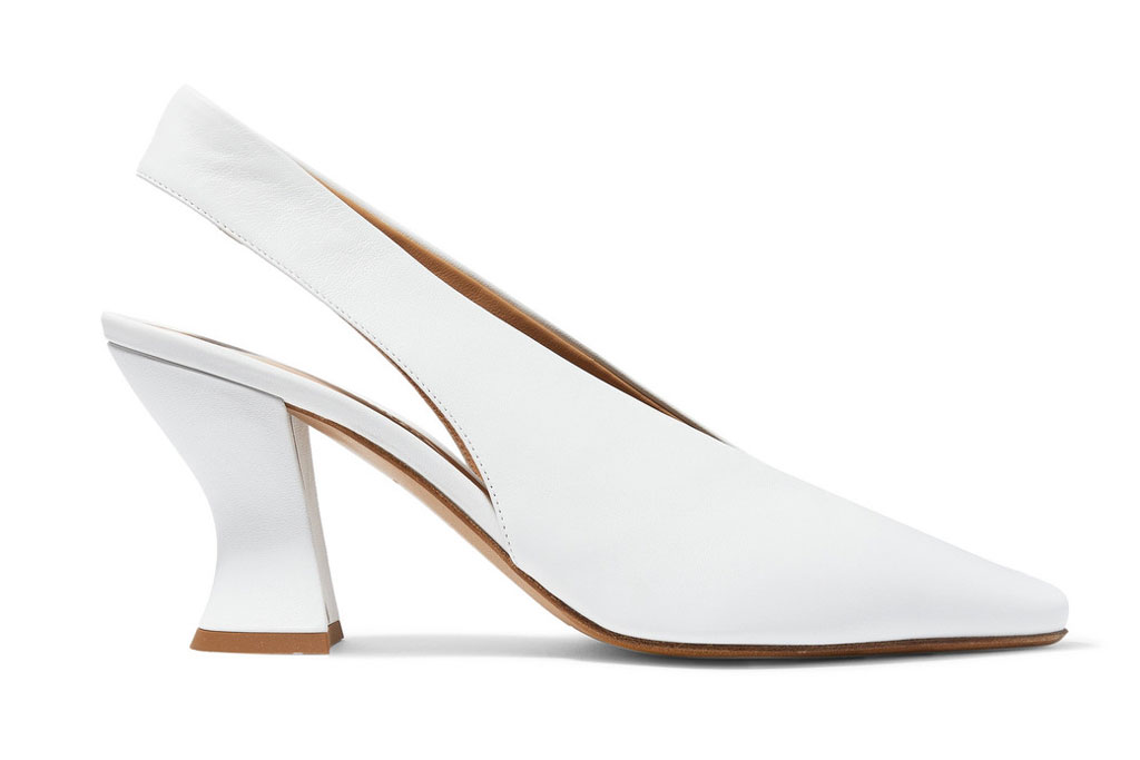 rosie huntington-whiteley, bottega veneta white architectural pumps