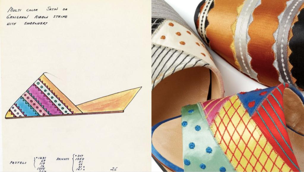 Satin mules, Arsho for Super Shoe Biz, 1974