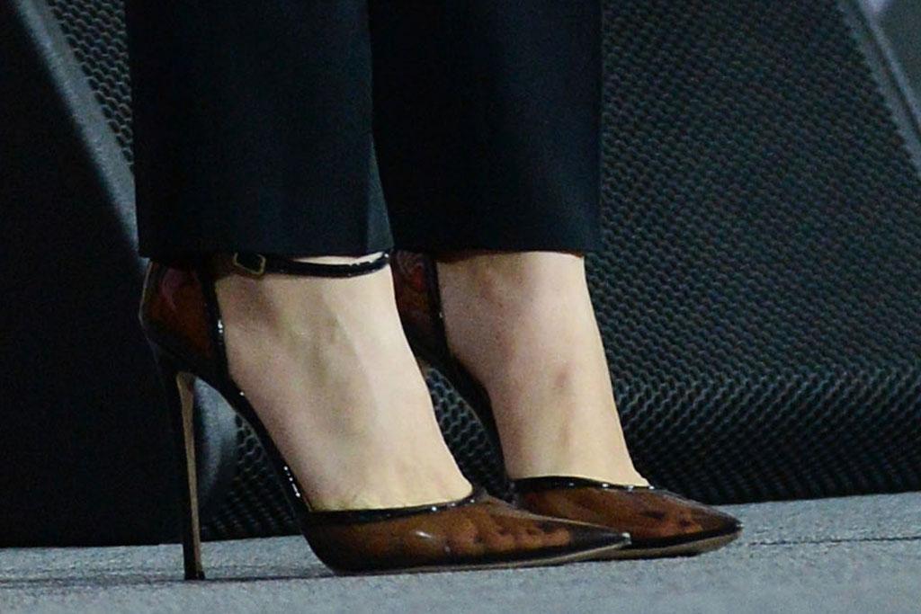 Gianvito Rossi, see-through pumps, celebrity style, Scarlett Johansson