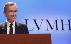 CEO of LVMH Bernard Arnault arrives