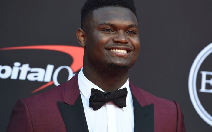 Zion Williamson, of the Duke University Basketball team, arrives at the ESPY Awards, at the Microsoft Theater2019 ESPY Awards - Arrivals, Los Angeles, USA - 10 Jul 2019