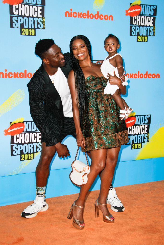 Nickelodeon Kids' Choice Sports Awards, gabrielle union, Dwyane Wade, Kaavia James