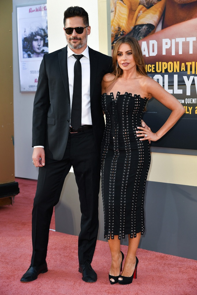 Sofia Vergara, dolce & Gabbana lace-up dress, christian louboutin platform sandals, Joe Manganiello and Sofia Vergara'Once Upon a Time in Hollywood' film premiere, Arrivals, TCL Chinese Theatre, Los Angeles, USA - 22 Jul 2019