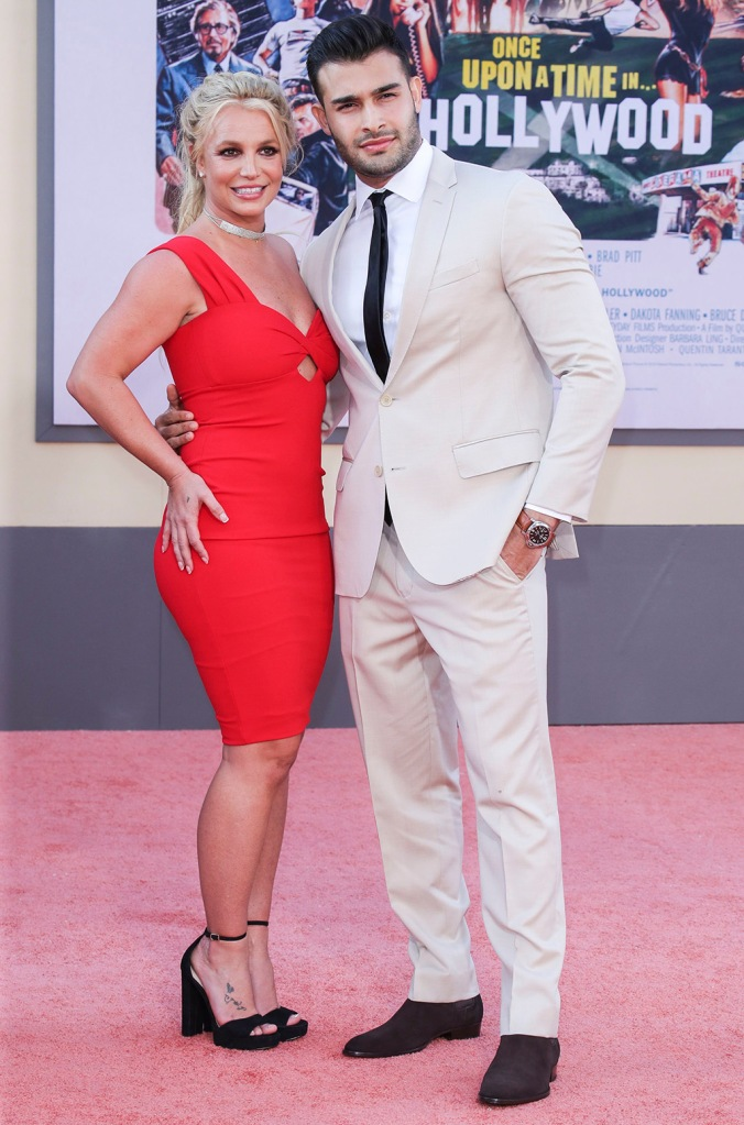 Britney Spears and Sam Asghari'Once Upon a Time in Hollywood' film premiere, Arrivals, TCL Chinese Theatre, Los Angeles, USA - 22 Jul 2019