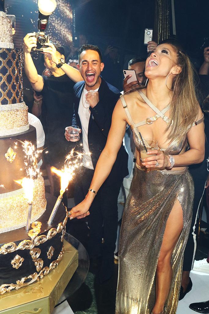 Jennifer Lopez, Alex Rodriguez, birthday, metallic heels