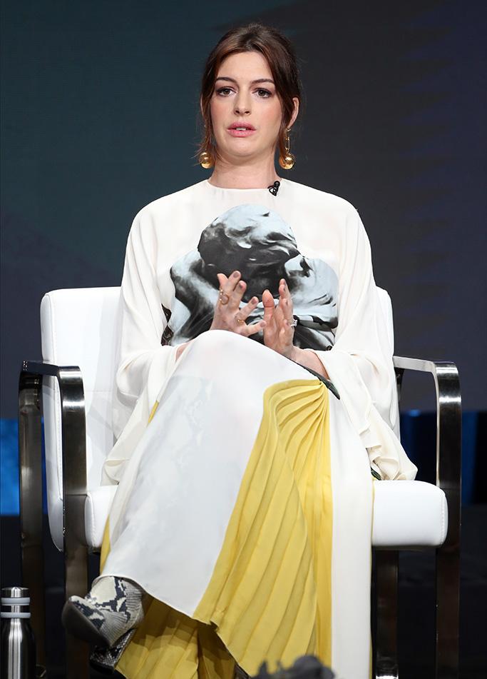 Anne Hathaway, Amazon press tour, modern love, valentino