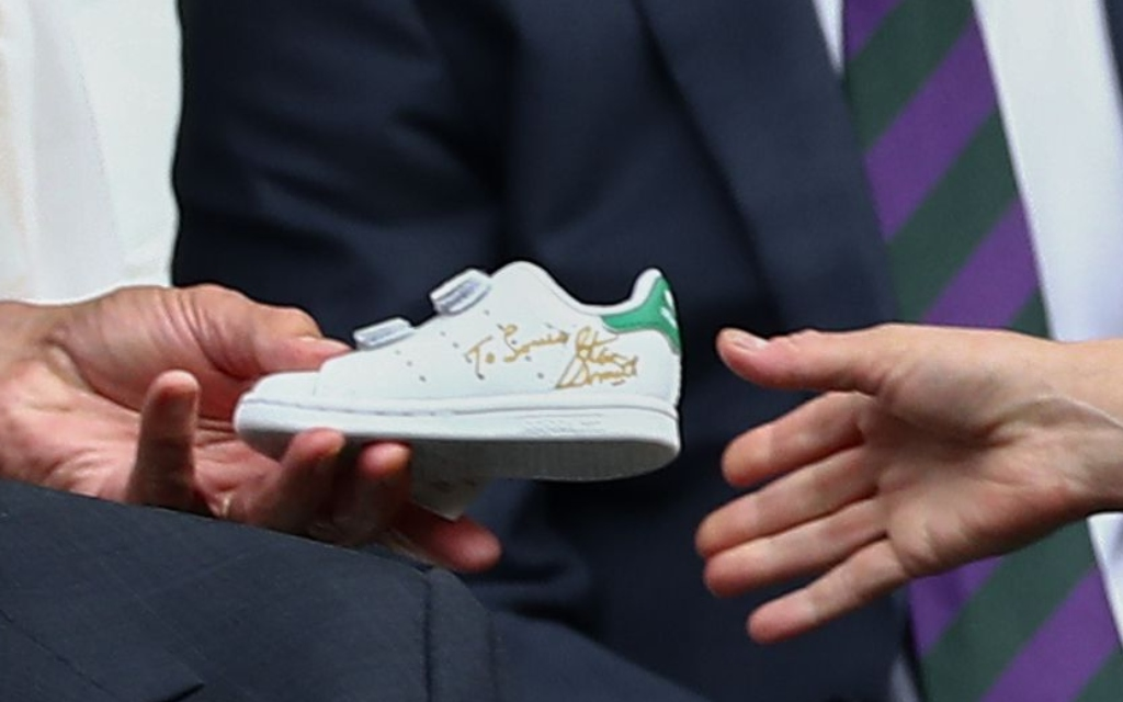 adidas stan smith, signed sneaker, prince louis gift